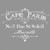 Pochoir Café Paris 30.5x30.5cm