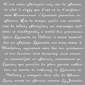 Pochoir Calligraphie 30.5x30.5cm