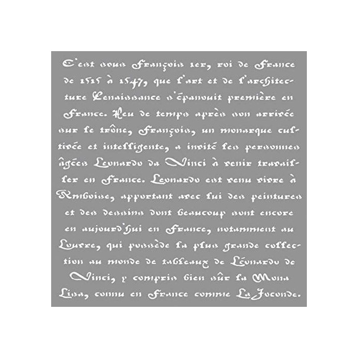 Stencil Calligraphy 30.5x30.5cm