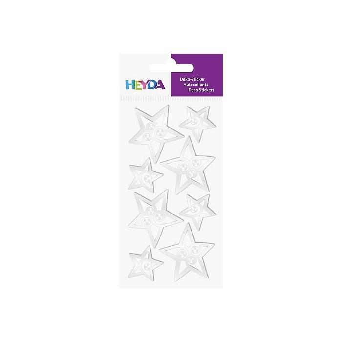 Sticker Mix Silver Star