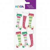 Sticker Mix Stockings red/green