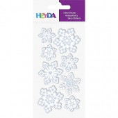 Sticker Mix Snowflakes white