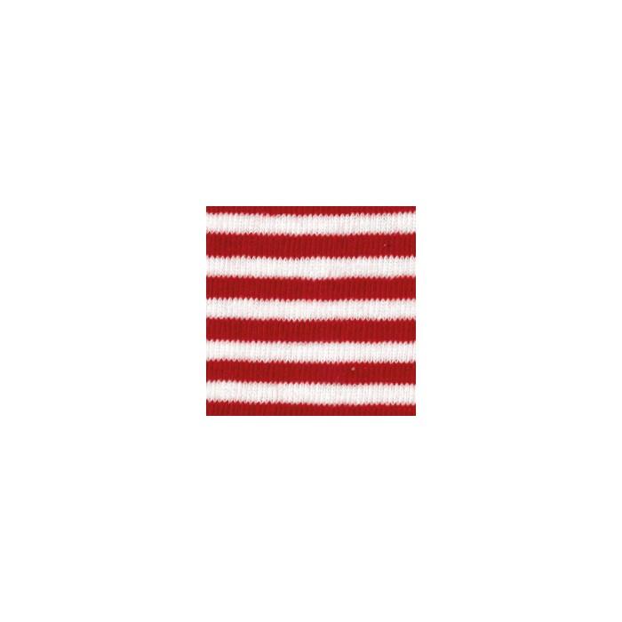 Tube en coton extensible, 100x8cm, rayé rouge/blanc