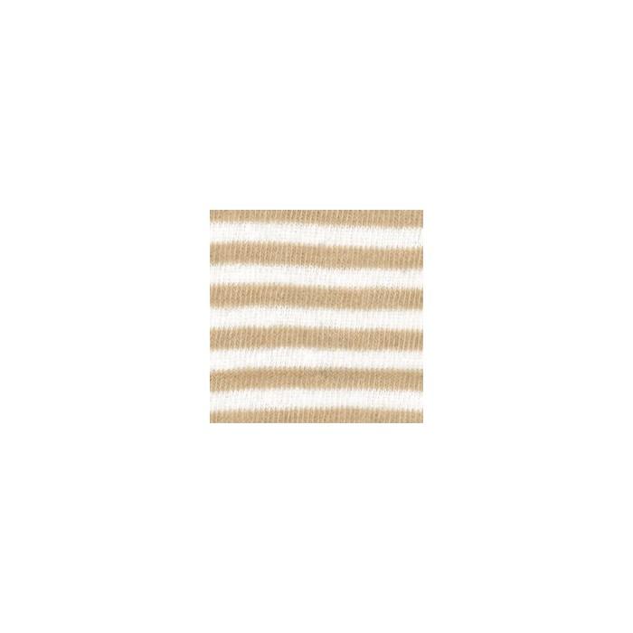 Tube en coton extensible, 100x8cm, rayé beige/blanc