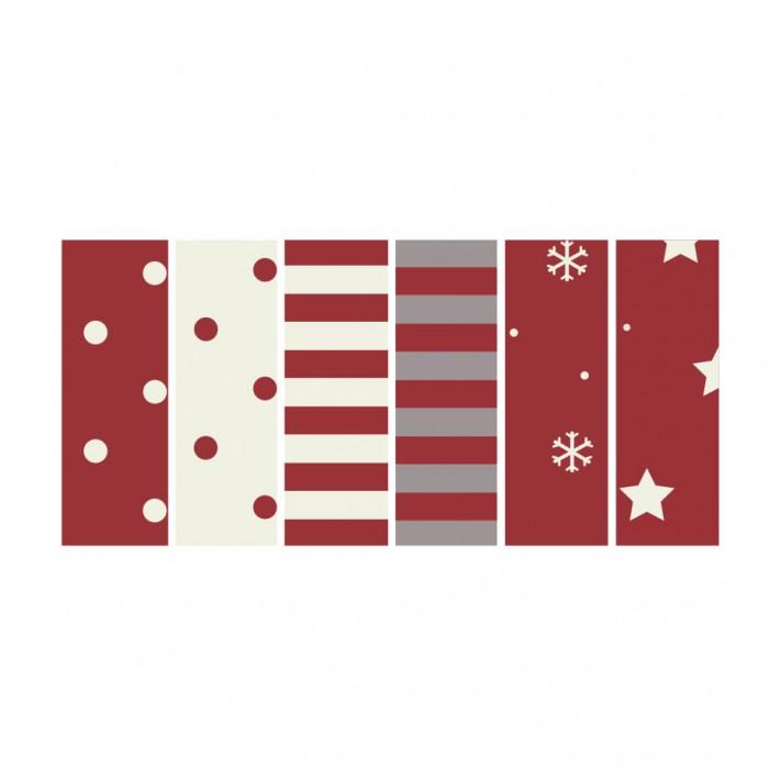 Tube en coton extensible, 30x8cm, 6 pcs/motifs