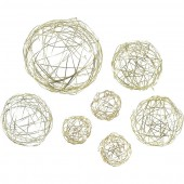 Wire ball mix 3/5/8cm gold, 10pcs