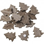 Wood.Trees Deco 2.5cm brown, 24pcs