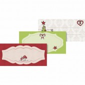 Etiquettes autocollantes Noël Arbre & Biche, 9.5x4.5cm, 24 pcs