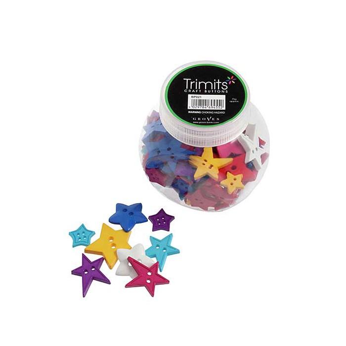 Assorted buttons , stars, +/- 75 pcs
