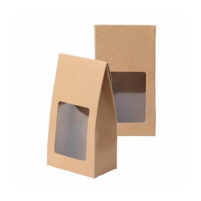 Pochette cartonnée kraft 19.5x10x6.3cm, 4 pcs