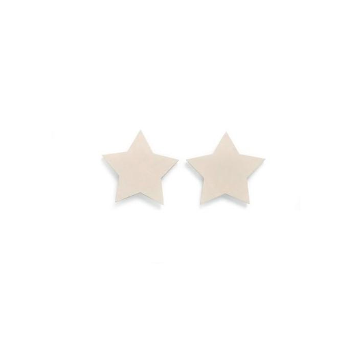 Etoiles en bois, 3.8cm, 8 pcs, beige
