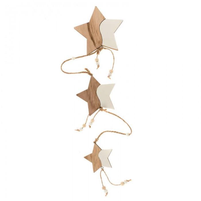 Guirlande étoiles en bois MDF 85cm