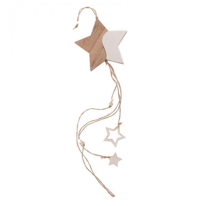 Guirlande étoiles en bois MDF 55cm