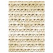 "Transparent paper ""Music"", A4, 5 sheets"