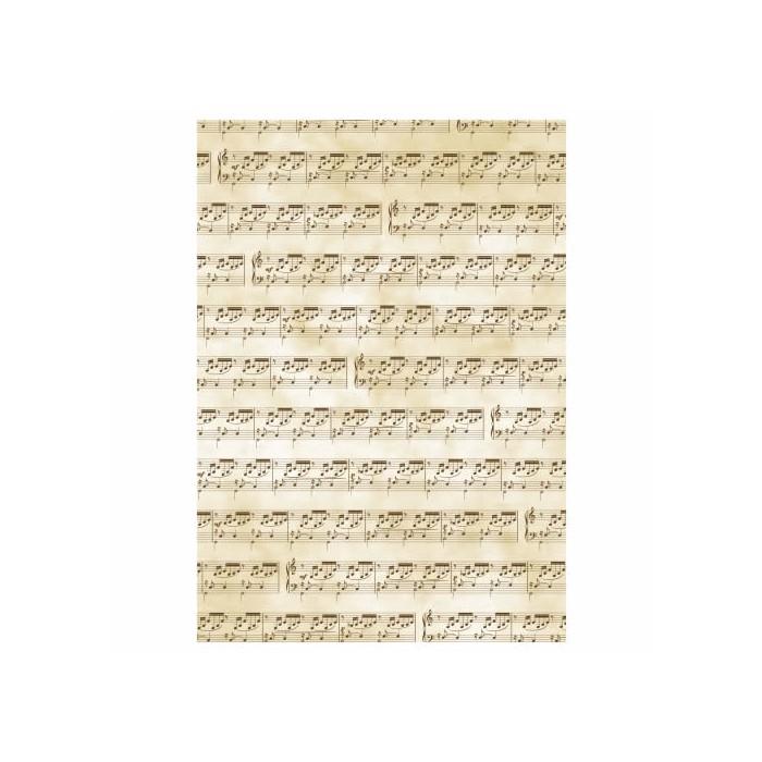 """Papier transparent A4 """"Musique"""", 5 feuilles"""