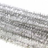 Limpia pipas, 8mm/50cm, 10 pcs, plata