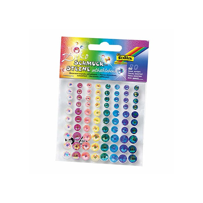 Strass autocollants, couleurs assorties, 5-10mm