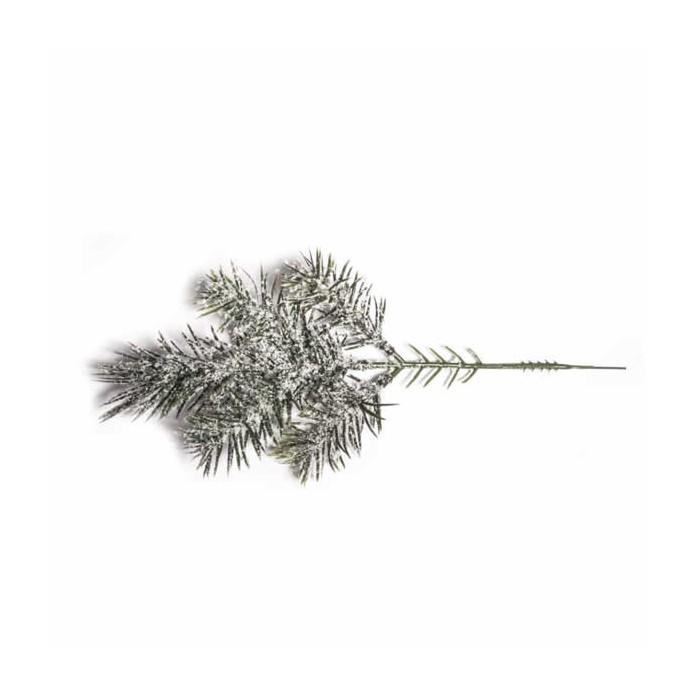 Fir tree branch with snow, 20cm, 1 pce