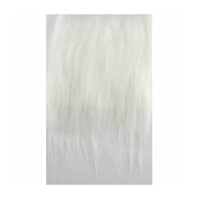 Fourrure synthétique, 25x35cm, blanc