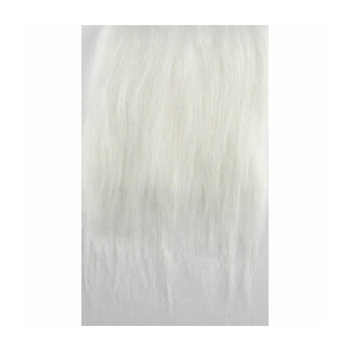 Synthetic fur, 25x35cm, white