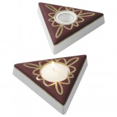 Mould candle holder triangle 11,5cm 300g