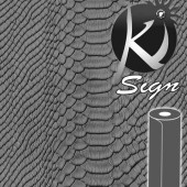 Ki-Sign, faux leather Caiman grey 45x66cm