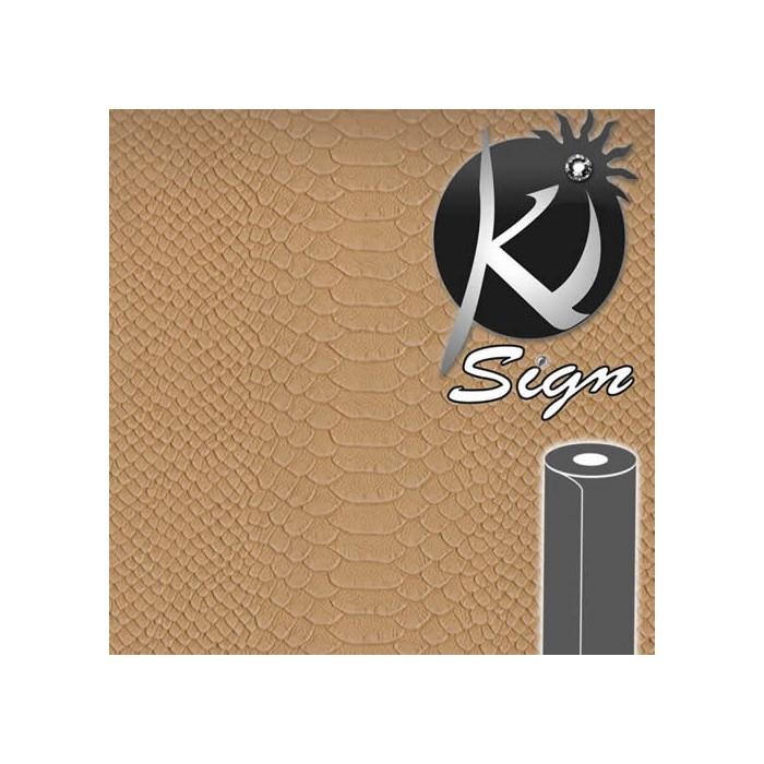 Ki-Sign, faux leather Caiman beige 45x66cm