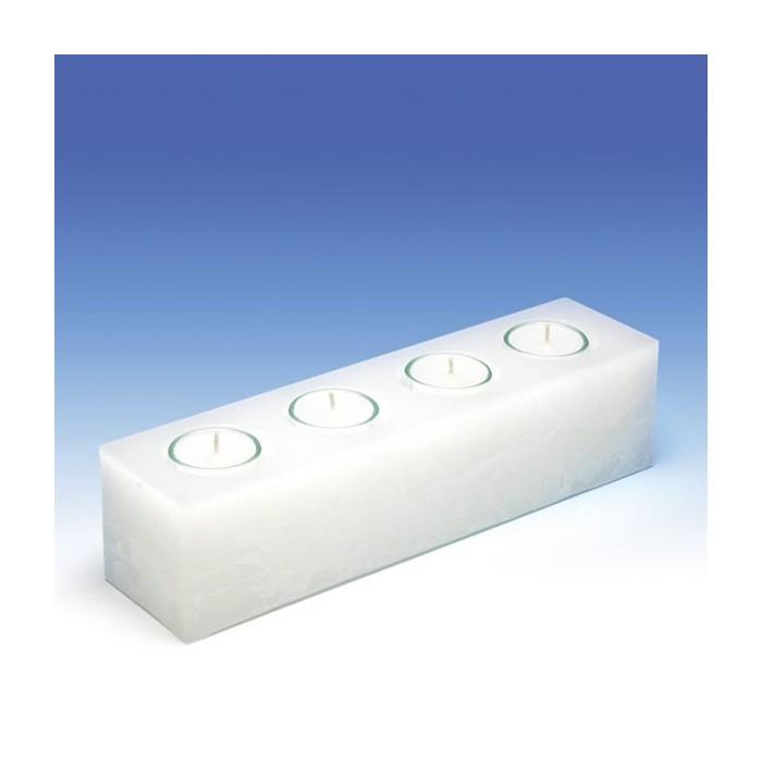 Moule à bougie, bloc rectangulaire 300/75/75