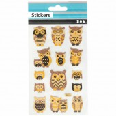 Stickers owls and nostalgy 10x16cm
