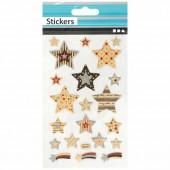 Stickers étoiles et messages 10x16cm