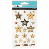 Stickers stars and tags 10x16cm