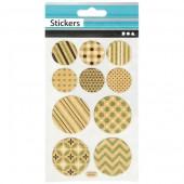 Stickers Kreise und Ticket 10x16cm