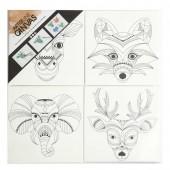 Toiles à peindre pré-imprimées animaux