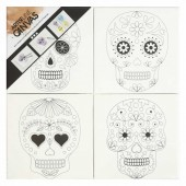 Canvas with print, Skull