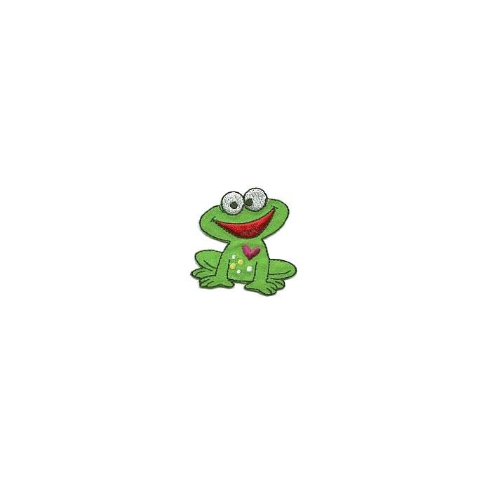 Motif à fixer au fer à repasser, 5.5x5.3cm, grenouille