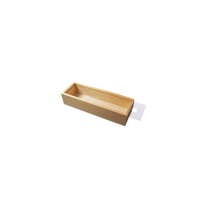 Wooden pencil box, transparent lid