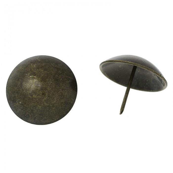 Big size stud, round bronze 39mm, 4 pcs