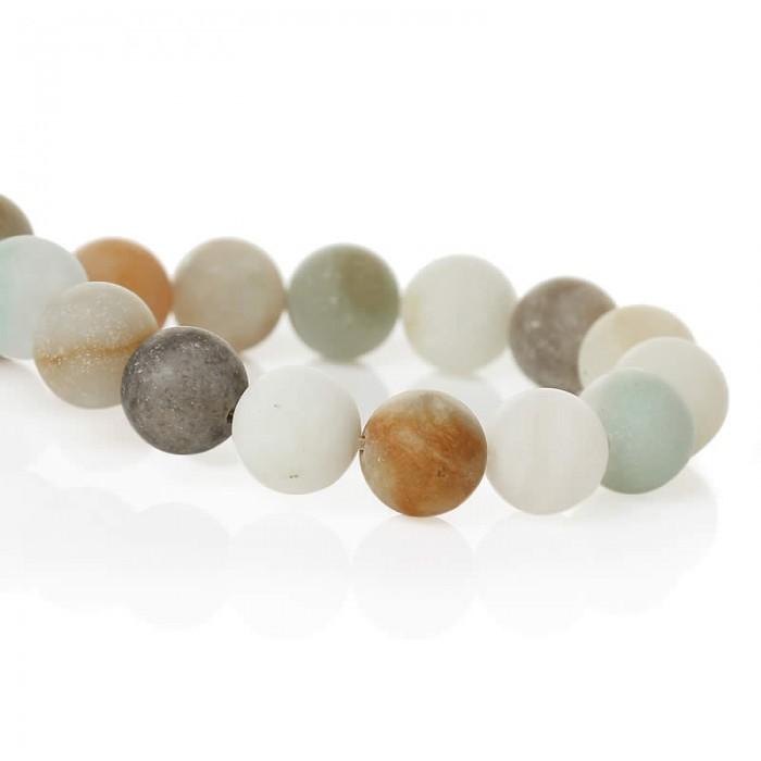Amazonite beads, 8mm, +/- 46 pcs