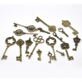 Key bronze, 33 - 69mm, 24 pcs