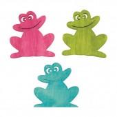 Wooden Frogs, 4cm, 12 pcs