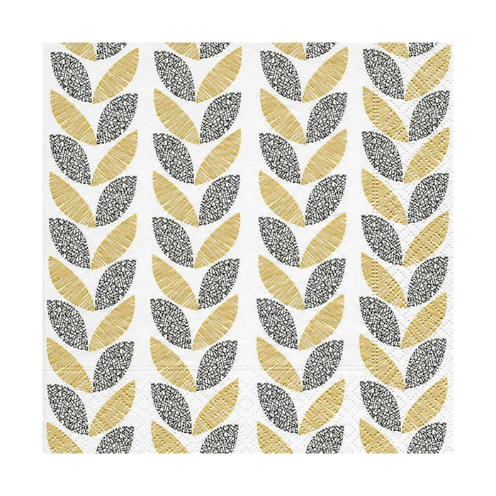 Napkin Graphic Leaves, 1 piece
