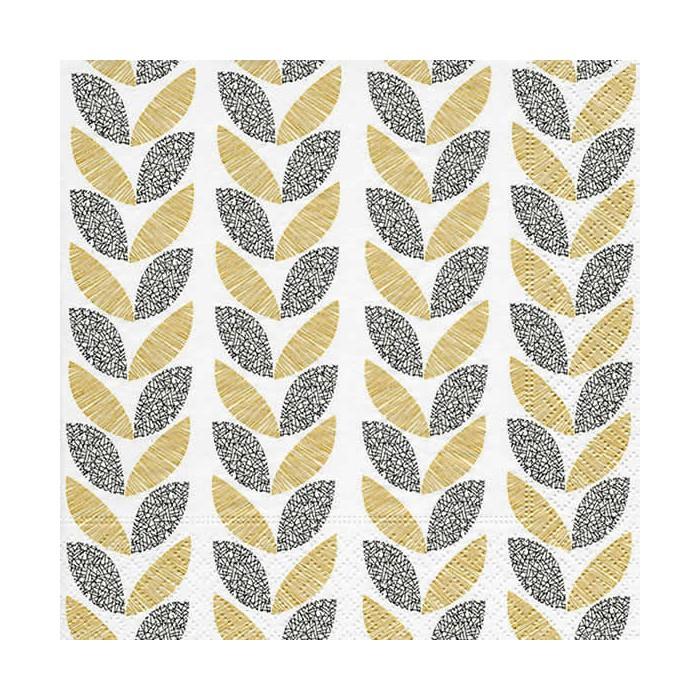 Serviette Graphic leaves, 1 pièce