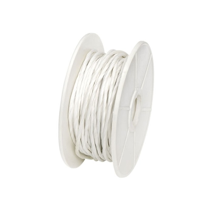 Paper wrap with wire, 1mm/10m, white