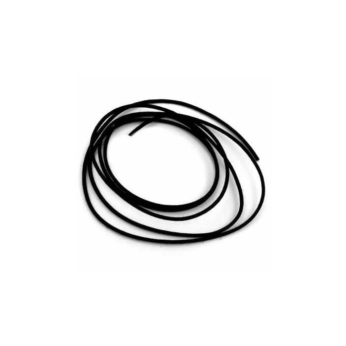Cotton lace, black, 1mm/10m