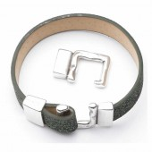 Hook clasp for 10mm strap, 24x17mm, 1 pce