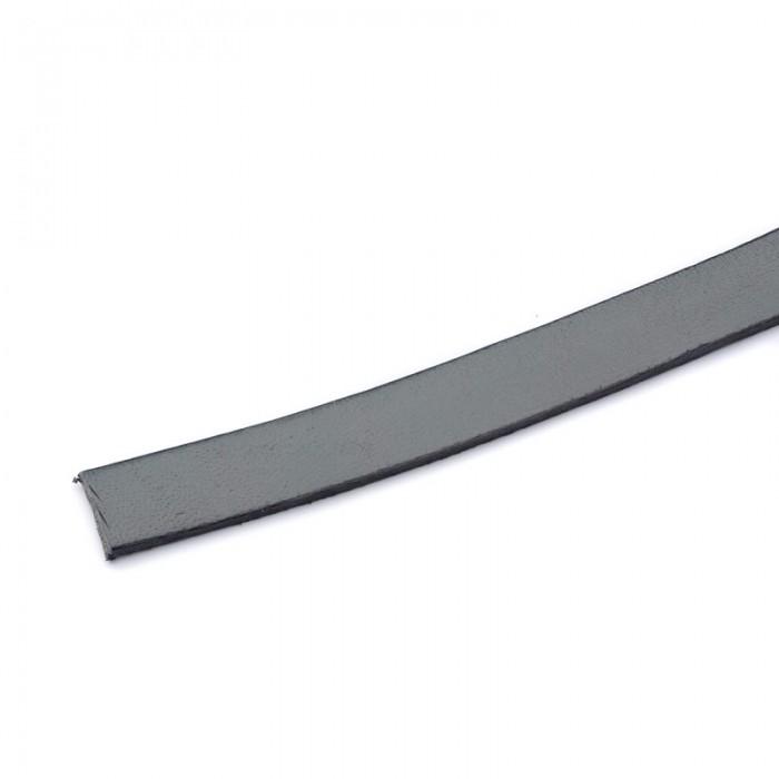 Cuir plat 10mm/20cm, gris