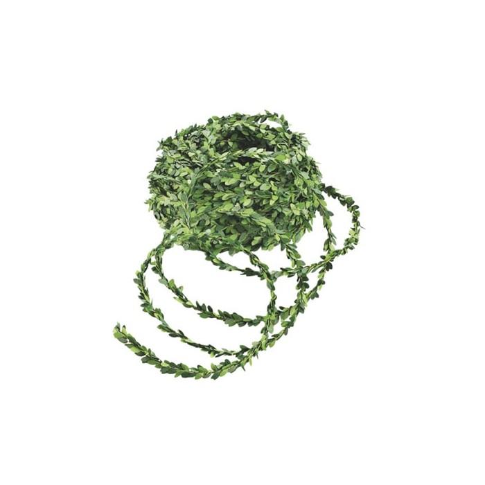 Mini guirlande de buis vert, 2.5m