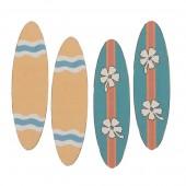 Surfbrett, 6.2x1.8cm, 4 Stk