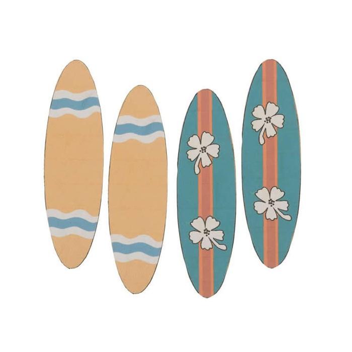 Planche de surf 6.2x1.8cm, 4 pcs