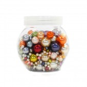Mix de perles multicolore +/- 230g